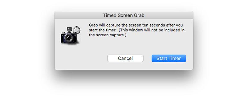 How to take a screenshot on Mac: Timed screen grab