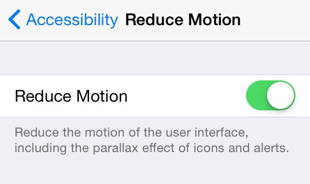 Speed up a slow iPhone: Reduce Motion