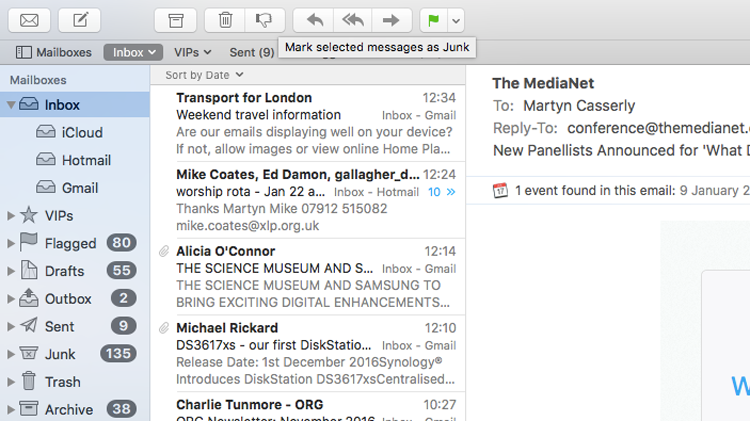 how to filter spam on Mac Mail