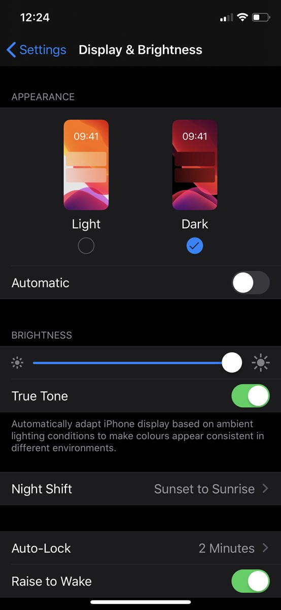 How to use dark mode on iPhone: display and brightness settings