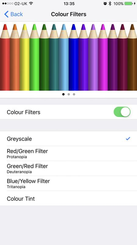 Enable dark mode on iPhone, Mac, Apple TV: Color filter