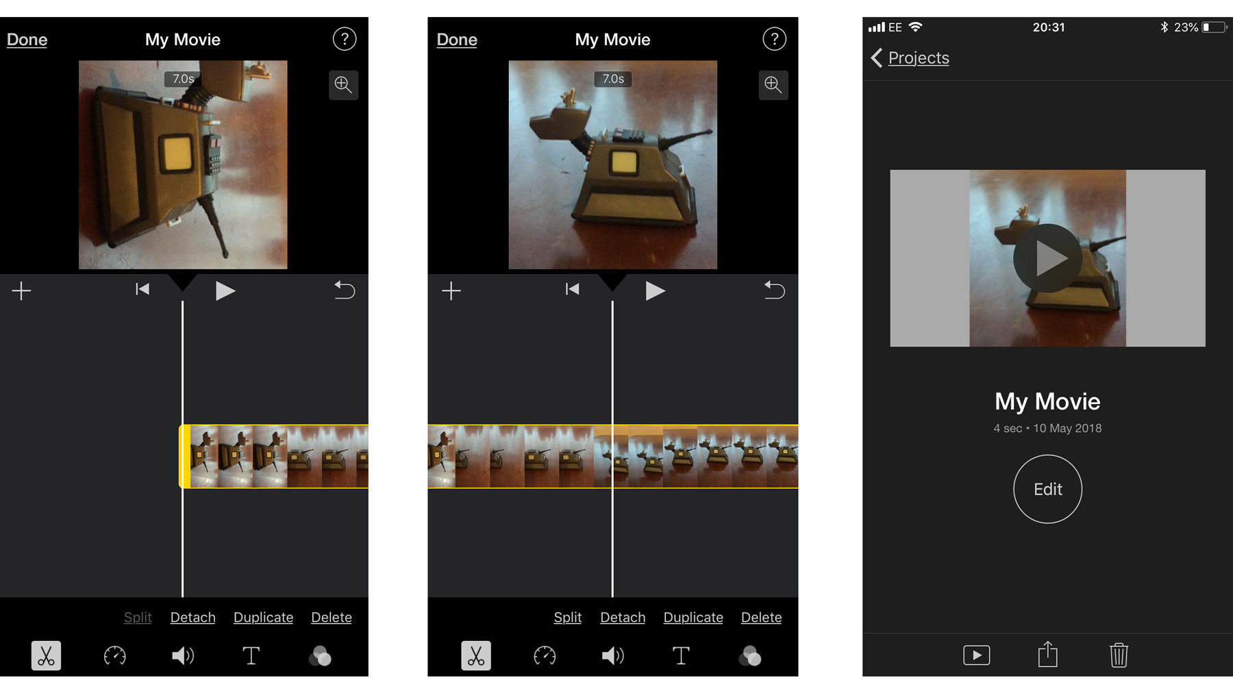 How to rotate video on iPhone: Edit