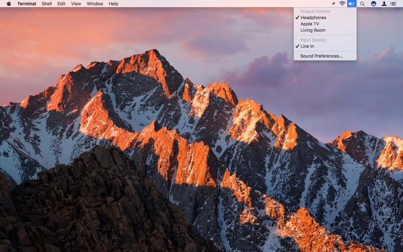 Use Mac menu bar in macOS Sierra: Menu Extras