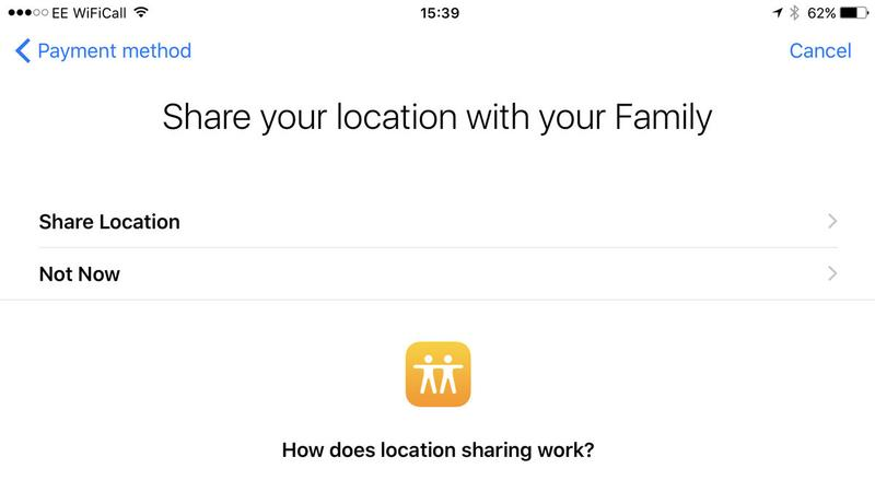 How to set up Family Sharing on iPhone: Share location
