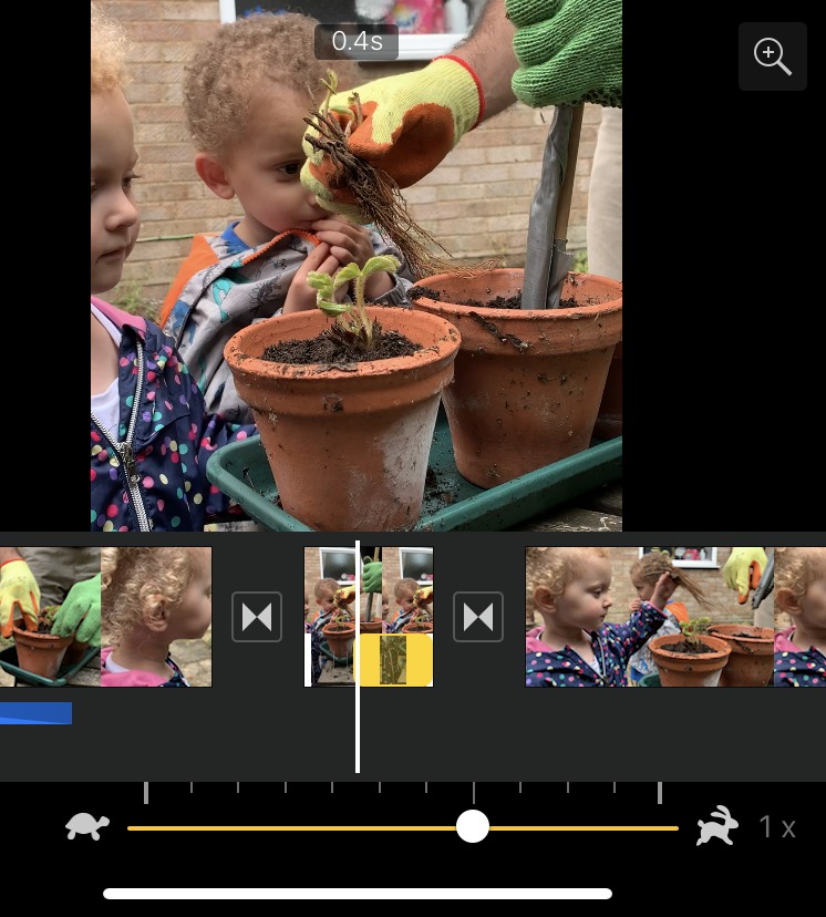 Make iMovie clips slow or fast