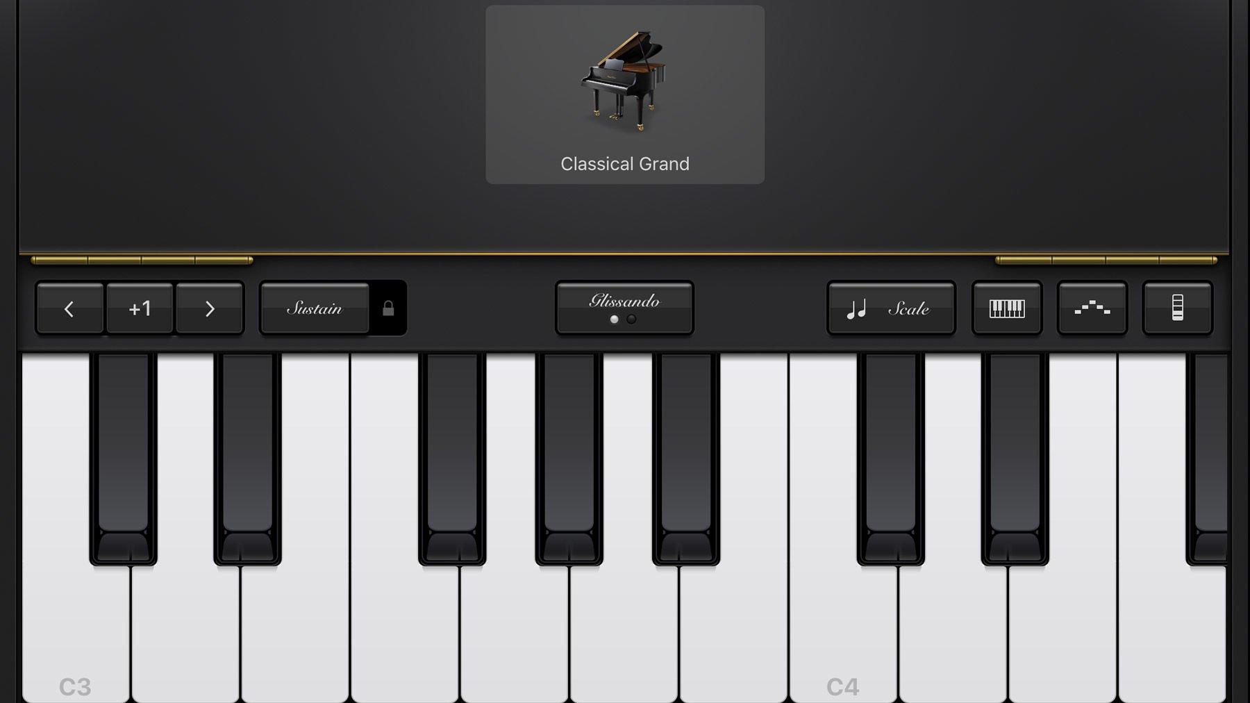 Using GarageBand on iPhone and iPad: classic grand piano