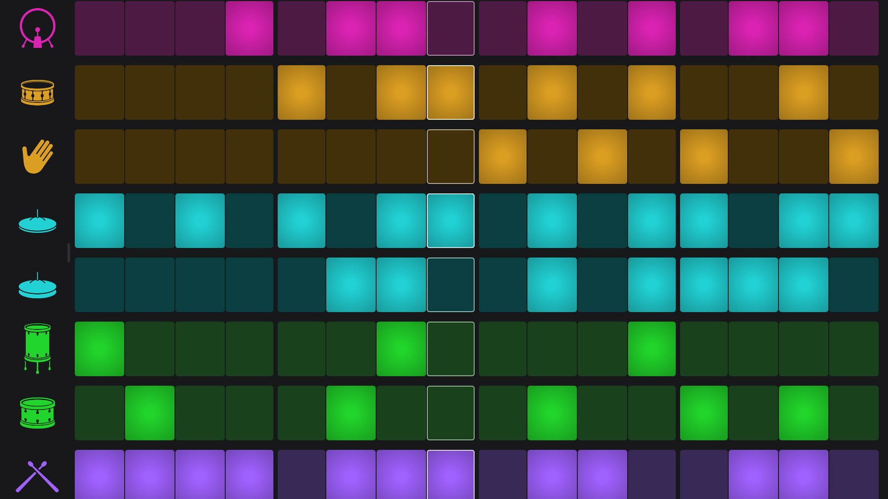 Using GarageBand on iPhone and iPad: drums