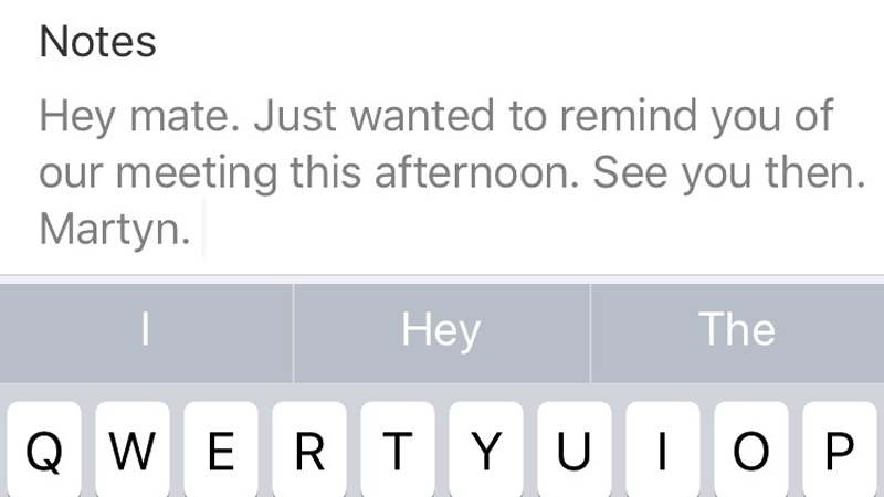 How to schedule text messages on iPhone: Meeting reminder