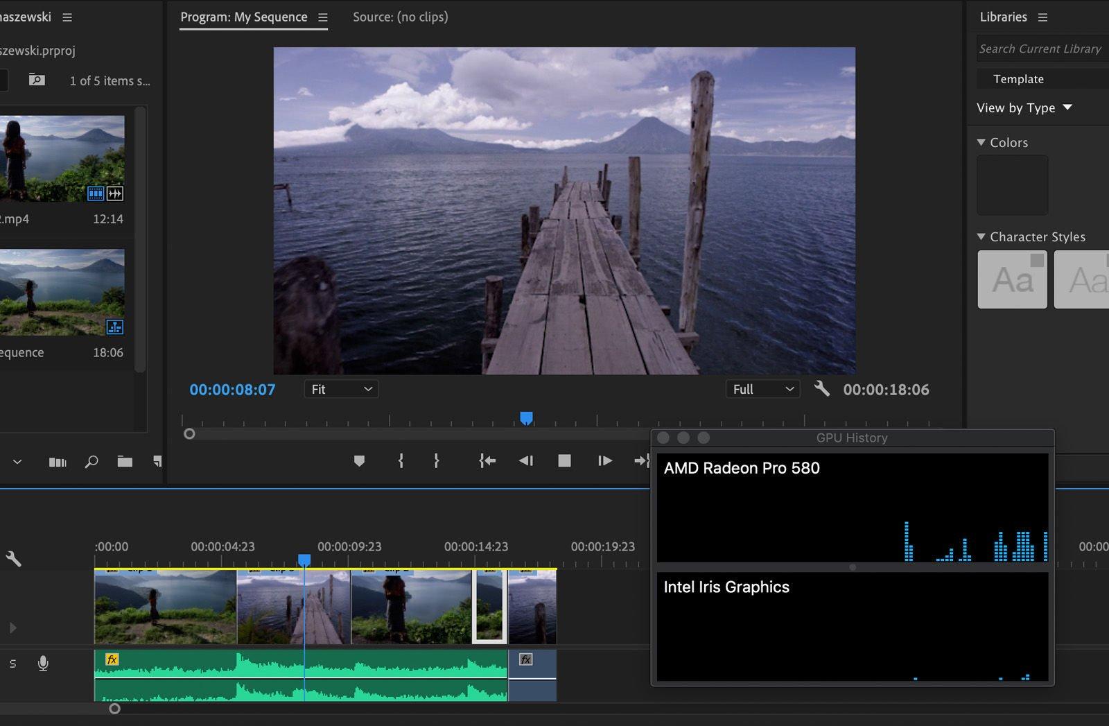 Render video on old Mac using eGPU