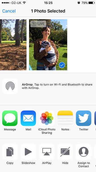 Take live photos on iPhone: Find live photos
