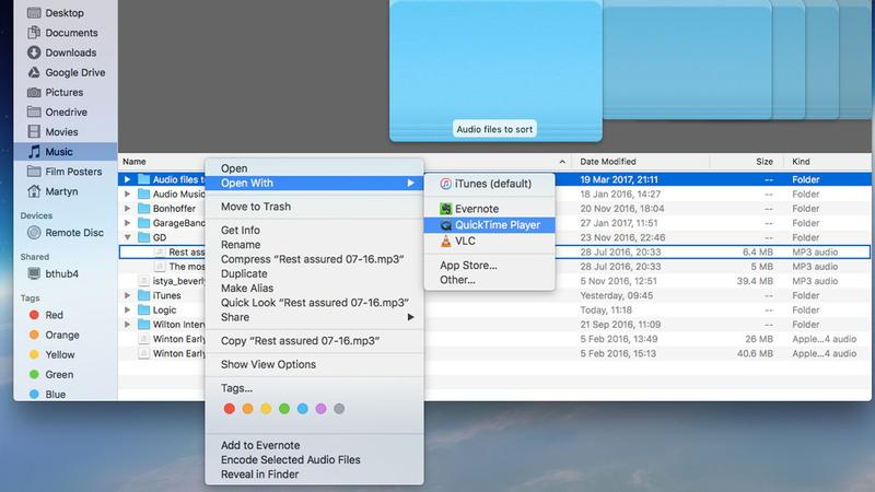 How to change default apps on Mac: Temporarily launch a file in another app
