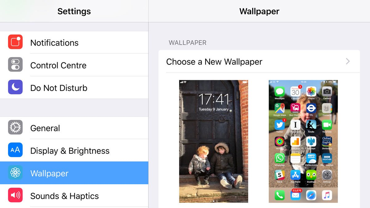 How to change the wallpaper on iPhone and iPad
