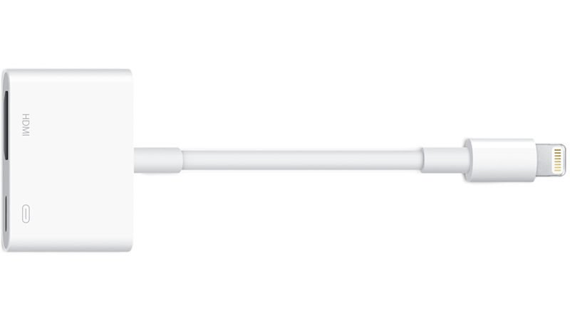 How to connect an iPad or iPhone to a TV: Apple Lightning AV adapter