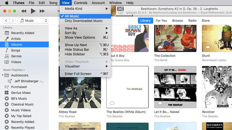 How to download iTunes library