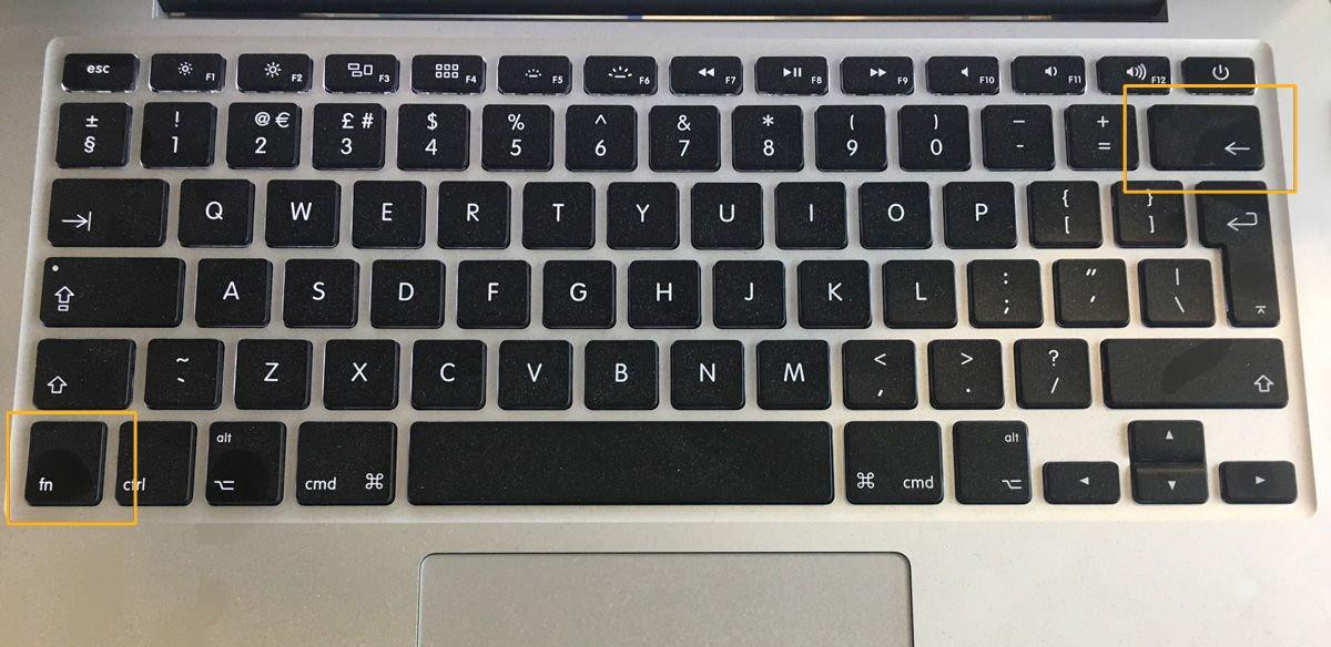 Delete forward on MacBook