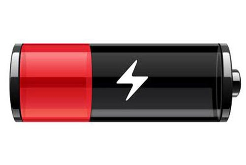the iPhone battery is low