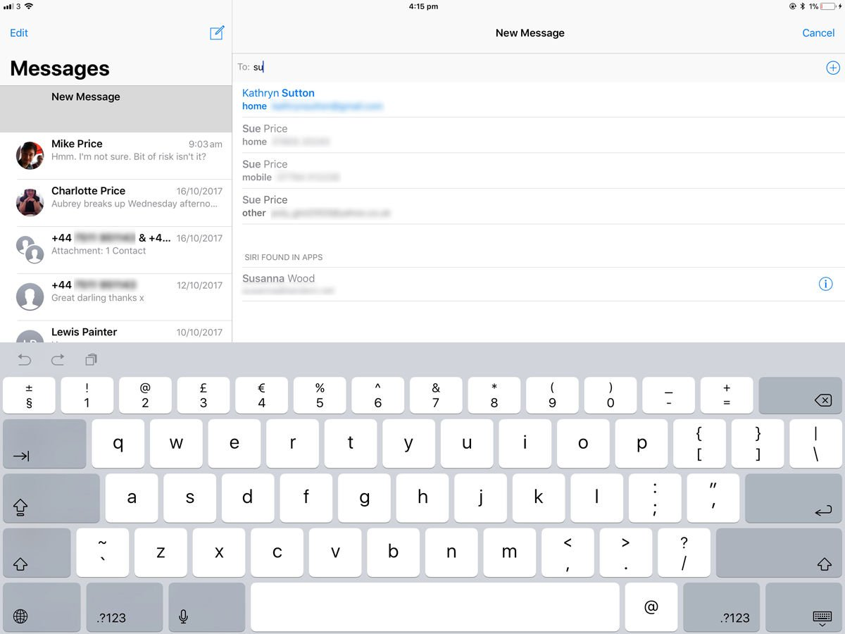 Send an SMS from an iPad: iMessage