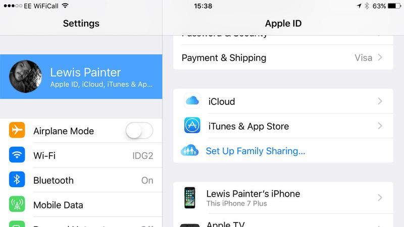 How to set up Family Sharing on iPhone: Settings
