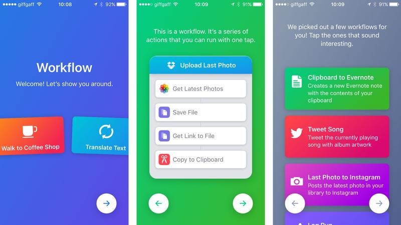 how to use workflow to automate apps on iphone