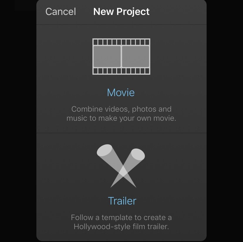 Create iMovie