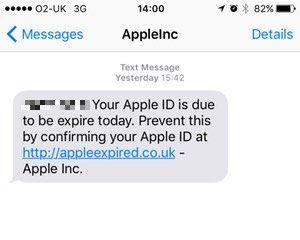 How to prevent Apple ID scam - SMS