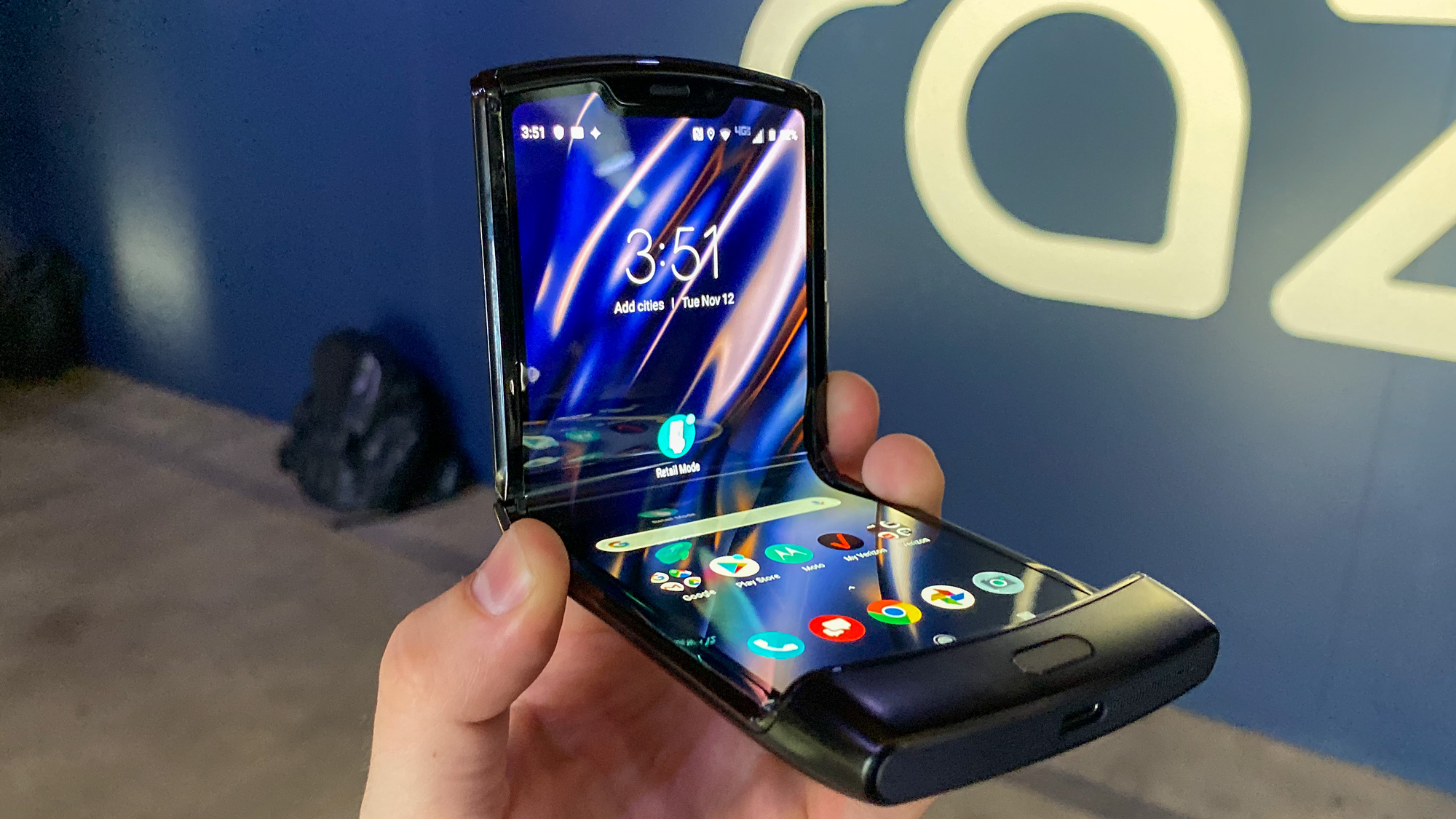 Motorola Razr 2 could have an in-screen scanner and eight side