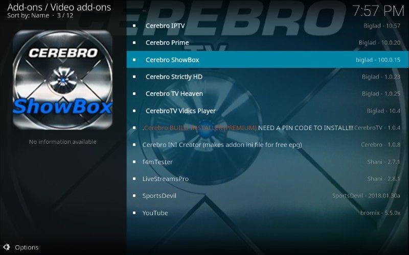 cerebro showbox add-on kodi