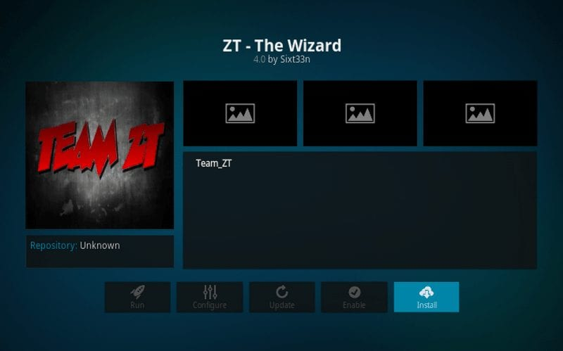 install zt the wizard