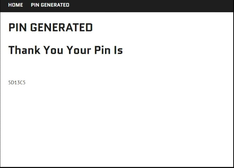 kick off add-on activation pin