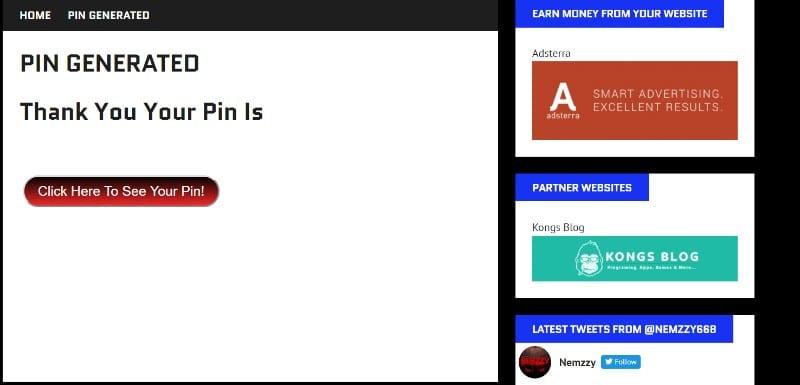 kick off kodi pin