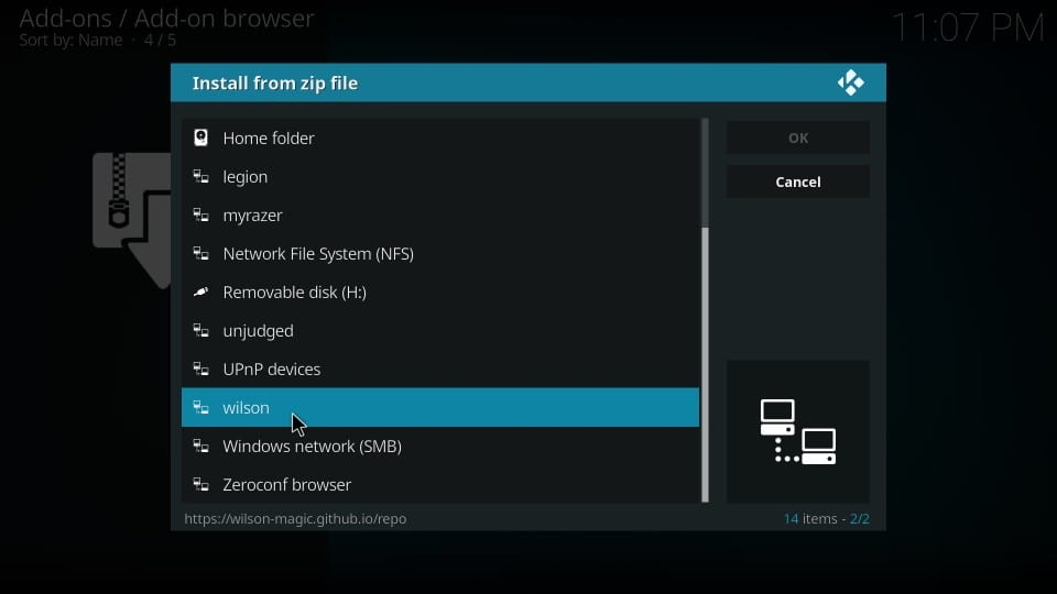 install Magicality repo on kodi