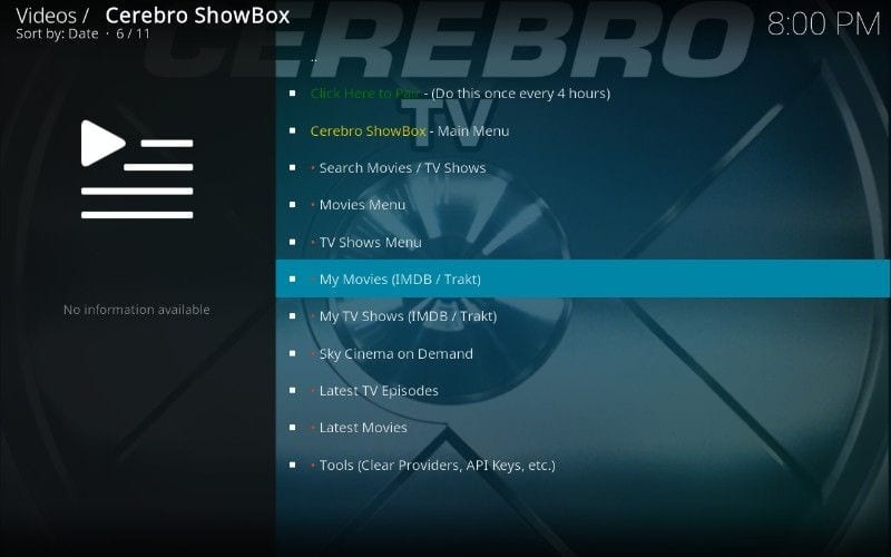 how to use cerebro showbox kodi add-on