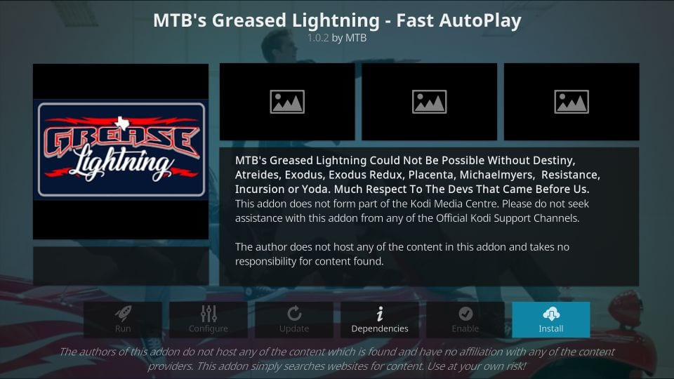 how to    install mtb's grease lightning kodi addon