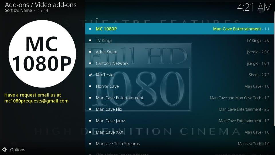 mc 1080p install addon on kodi