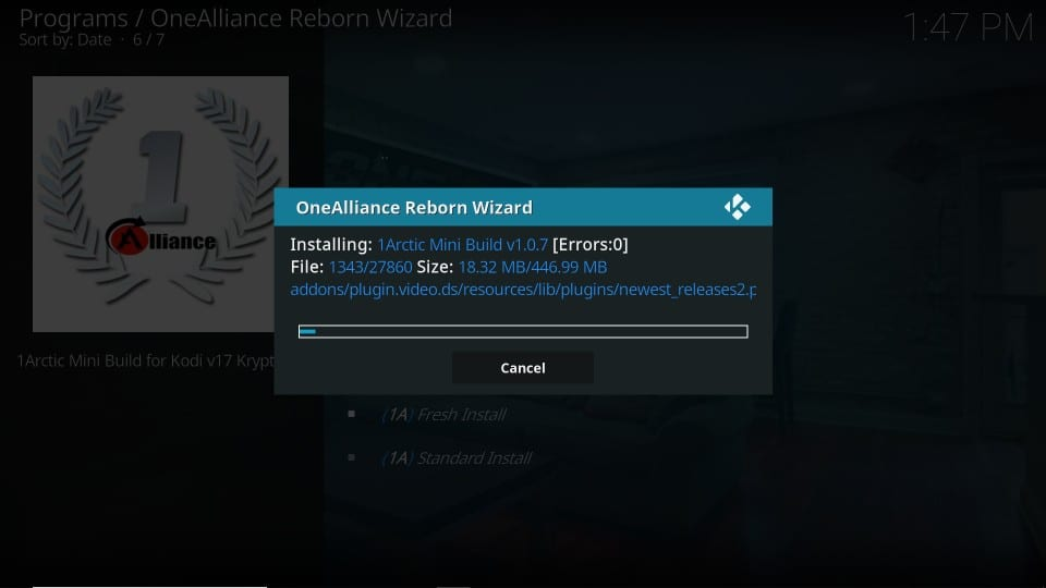Build an Alliance Reborn kodi