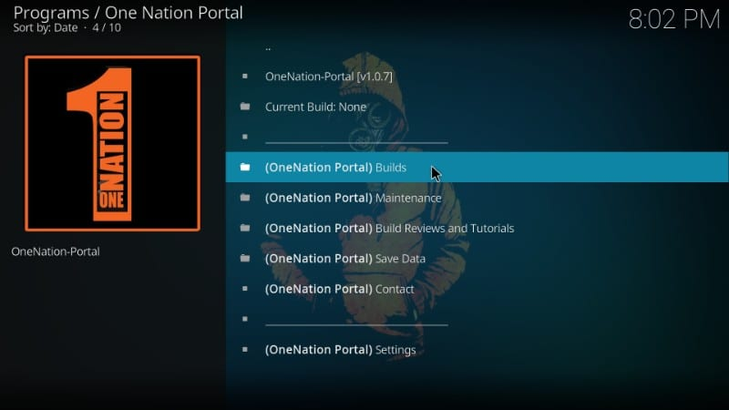 one nation portal builds
