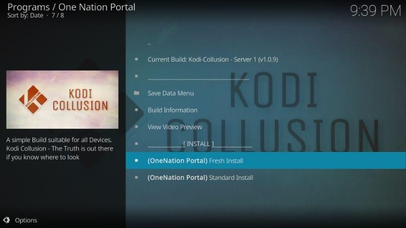 kodi collusion fresh installation guide