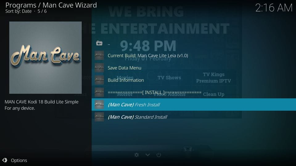 mancave wizard kodi builds
