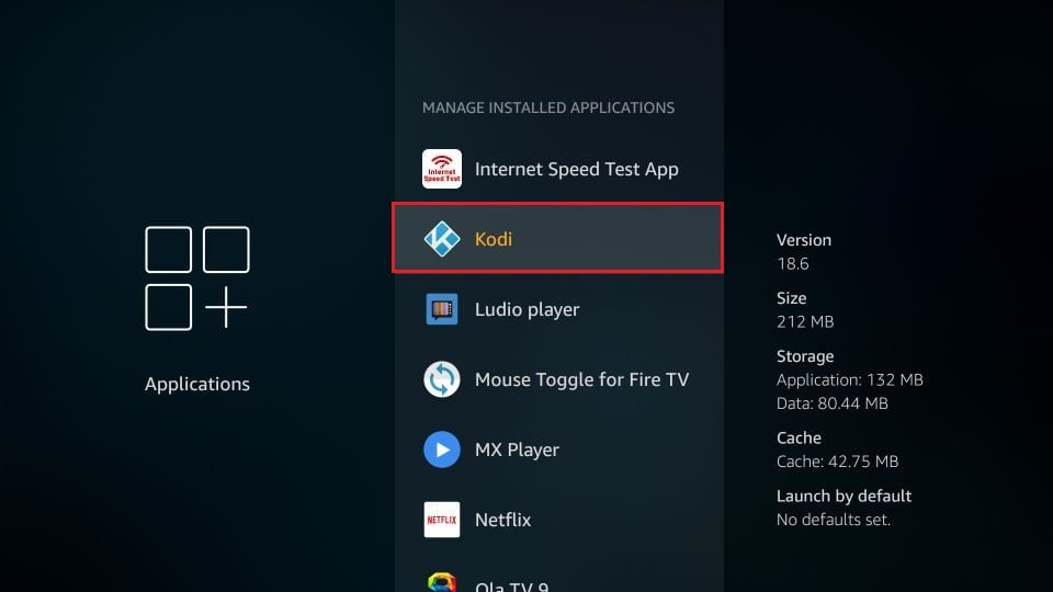 clear cache of brand TV apps