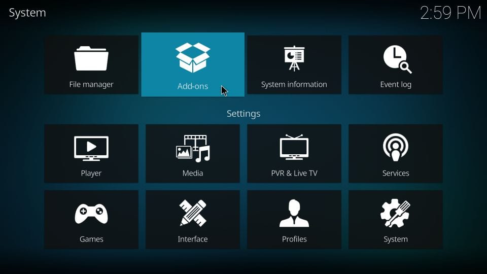 self-se saydownload live addon on kodi