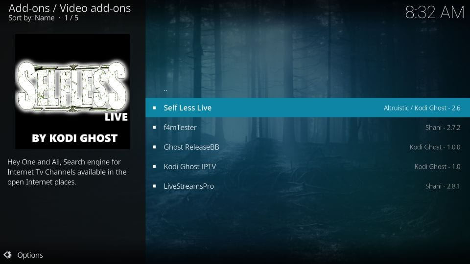 selfless living kodi addon
