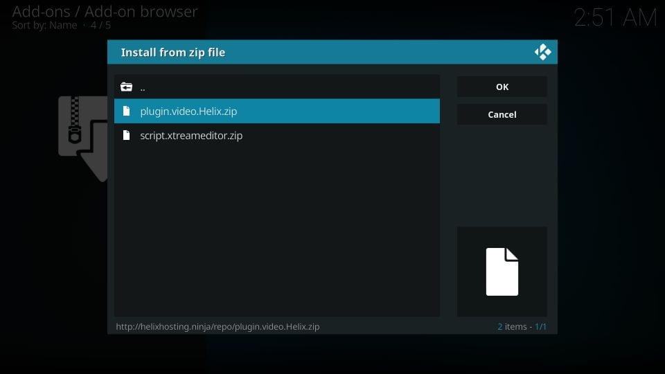 Helix tv iptv kodi addon