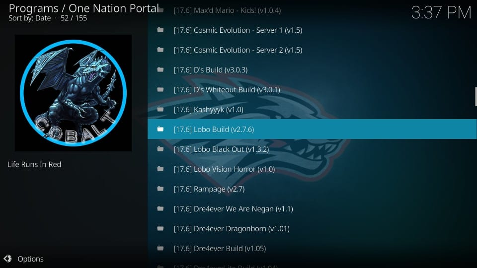 lobo build on kodi