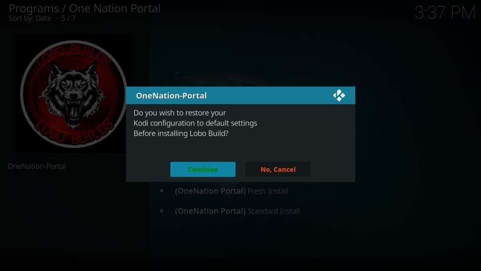 install lobo build on kodi