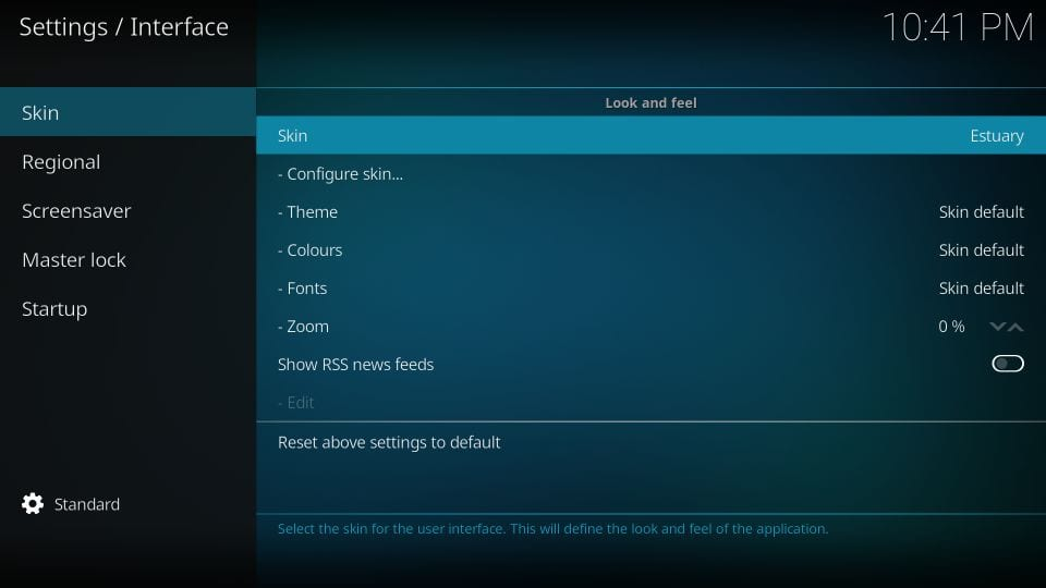 how to    change kodi skin