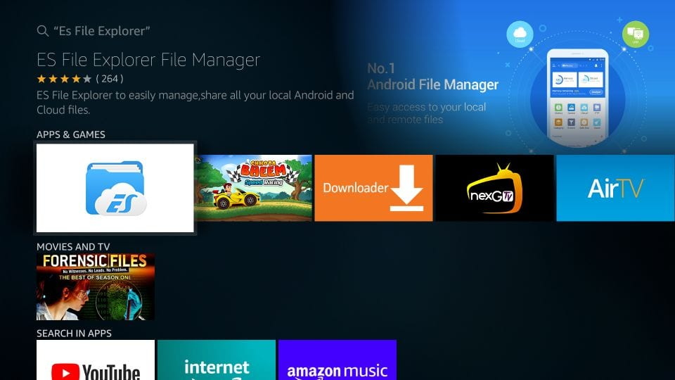 es file explorer for Amazon firestick