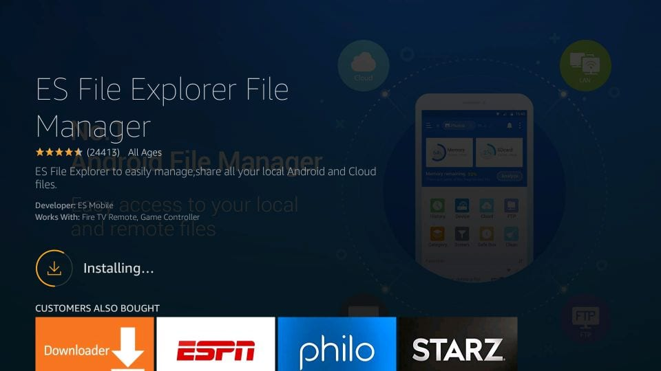 es file explorer firestick app