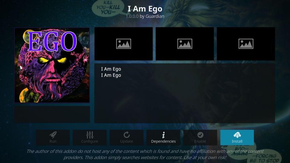 how to    install I'm ego kodi addon