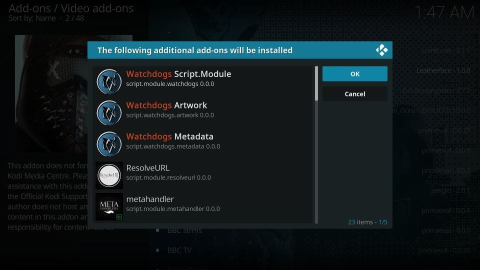 Watchdogs addon Installation