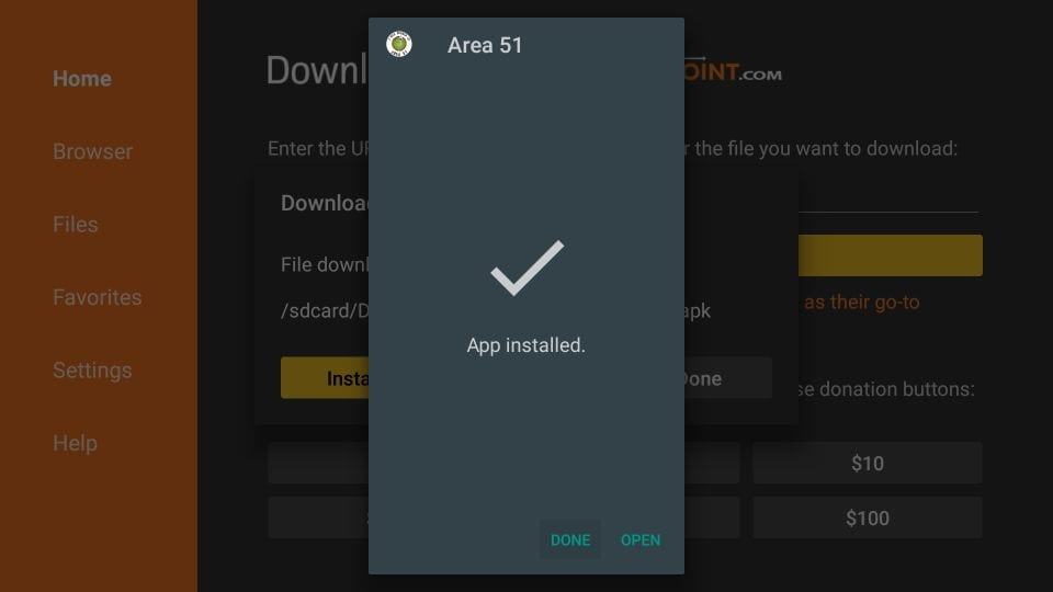 how to    install area 51 on firestick